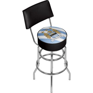 Premier League Manchester City Swivel Bar Stool with Back