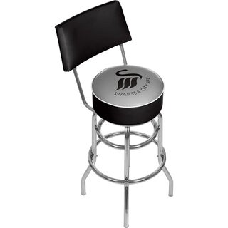 Premier League Swansea City Swivel Bar Stool with Back