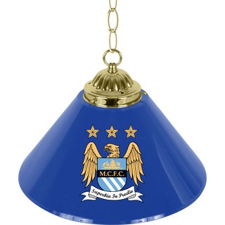 Premier League Manchester City Single Shade Brass Bar Lamp