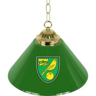 Premier League Norwich City Single Shade Brass Bar Lamp