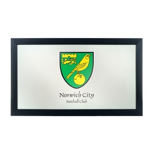 Premier League Norwich City Framed Logo Mirror