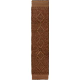 Ecarpetgallery Hand-knotted Tajik Caucasian Brown Wool Runner Rug (1'11 x 8'8)