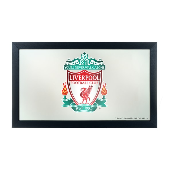 Premier League Liverpool Football Club Framed Logo Mirror