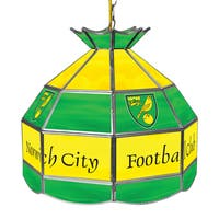Premier League Norwich City 16 Inch Handmade Tiffany Style Lamp