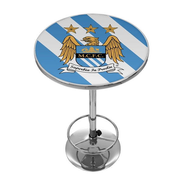 Premier League Manchester City Chrome Pub Table