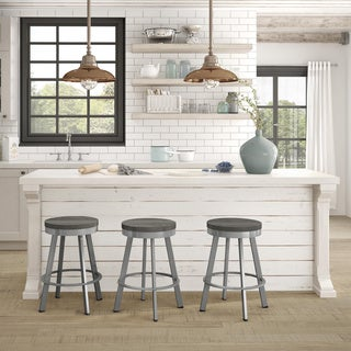 Carbon Loft Murdock Swivel Metal/Wood Barstool