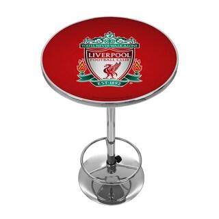Premier League Liverpool Football Club Chrome Pub Table
