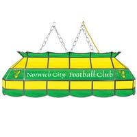 Premier League Norwich City Handmade Tiffany Style Lamp - 40 Inch