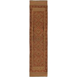 Ecarpetgallery Hand-knotted Tajik Caucasian Brown Wool Runner Rug (2'1 x 9'1)