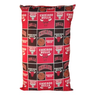Lillowz NBA Chicago Bulls Reversible 9 x 16-inch Rectangular Throw Pillow
