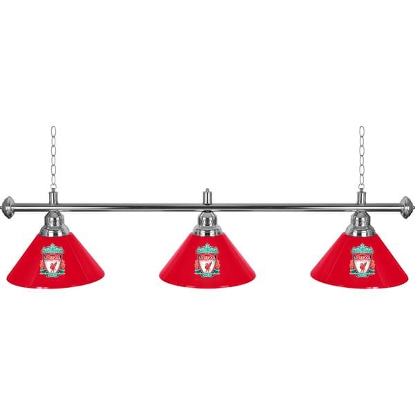 Premier League Liverpool Football Club 3 Shade Chrome Bar Lamp