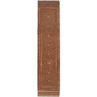 Ecarpetgallery Hand-knotted Tajik Caucasian Brown Wool Runner Rug (1'11 x 8'7)