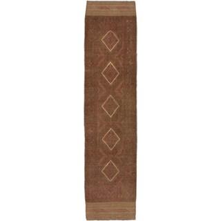 Ecarpetgallery Hand-knotted Tajik Caucasian Brown Wool Runner Rug (1'11 x 8'6)