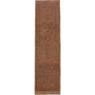 Ecarpetgallery Hand-knotted Tajik Caucasian Brown Wool Runner Rug (2'2 x 8'2)