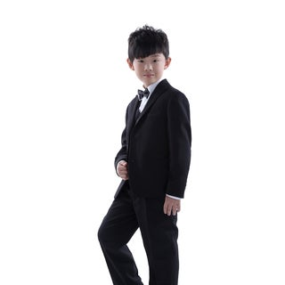 Three Piece Black Tuxedo for Kids 4 - 14 Years