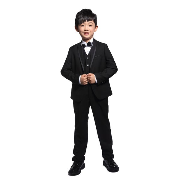 Shop Black 3 Piece Tuxedo With Satin Trim For Kids 4 14 Years