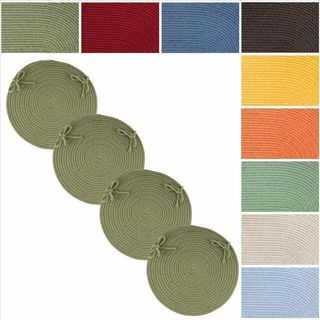 Rhody Rug Venice Reversible Braided Chair Pads (Set of 4)