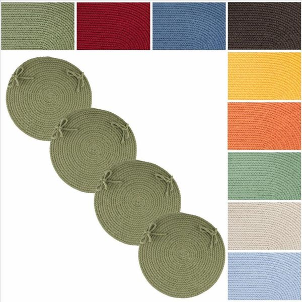 Rhody Rug Venice Reversible Braided Chair Pads Set of 4