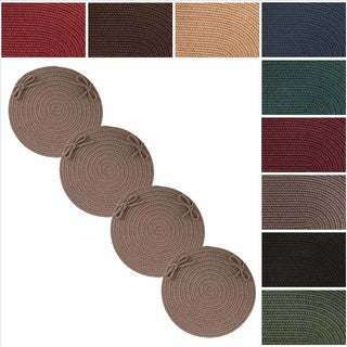 Rhody Rug Madeira Reversible Braided Chair Pads (Set of 4)
