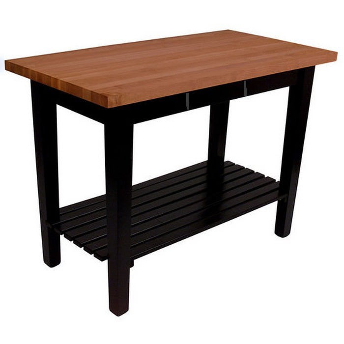 John Boos 48x36 Cherry Butcher Block Table With Shelf & D...