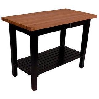John Boos 48x36 Cherry Butcher Block Table With Shelf & Drawer RN-C4836-D-S & Henckels 13 Pc Knife set