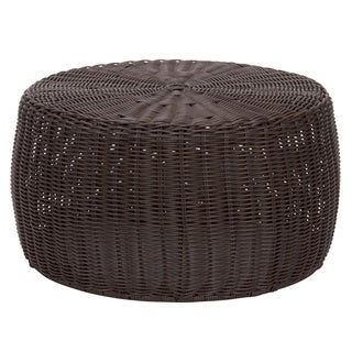 Havenside Home Stillwater 9-inch Brown Resin Wicker Ottoman
