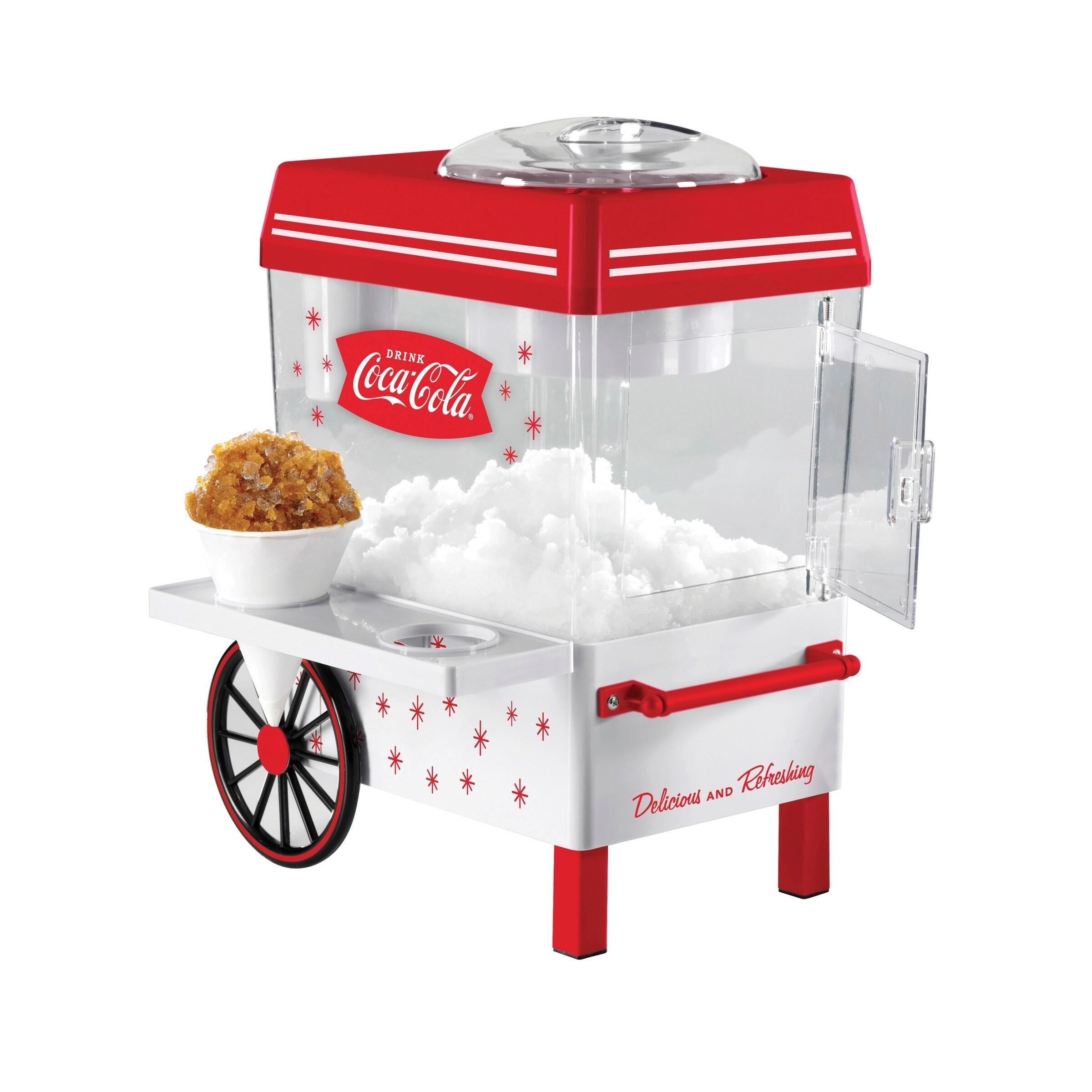 Nostalgia SCM550COKE Coca-Cola Snow Cone Maker and Shaved...