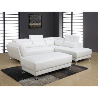 2-piece White Sectional