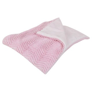 Cotton Tale Designs Sweet & Simple Pink Chevron Minky Coverlet