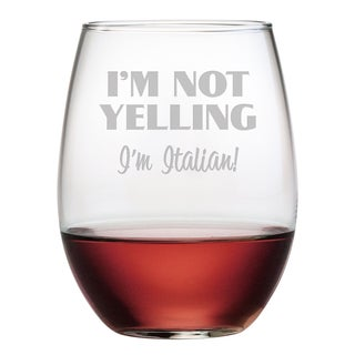 I'm Italian Stemless Wine Glasses (Set of 4)
