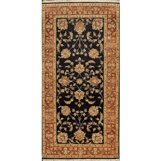 ABC Accent Ziegler Hand-knotted Black Wool Rug (10' x 10')