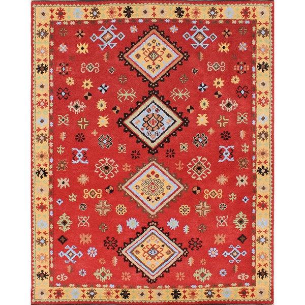 Shop ABC Accents Tribal Kazak Red Wool Rug