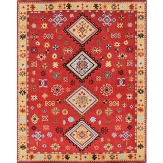 ABC Accents Tribal Kazak Red Wool Rug (5' x 8')