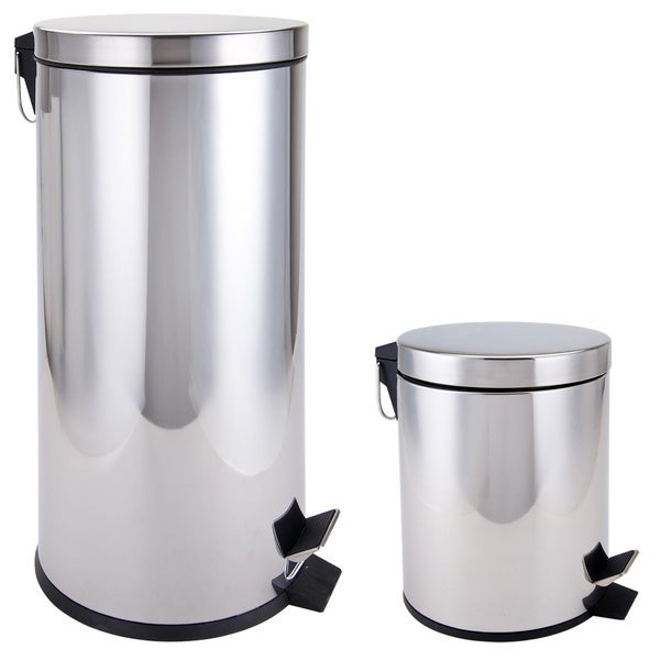 Stainless Steel Kitchen Garbage Can: Shop Stainless Steel Kitchen And Bathroom Trash Cans 2