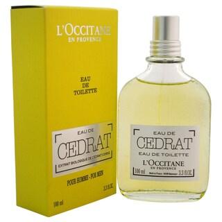 L'Occitane Eau de Cedrat Men's 3.3-ounce Eau de Toilette Spray