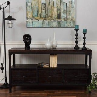 Somette Merlot Reclaimed 3-drawer Media Console