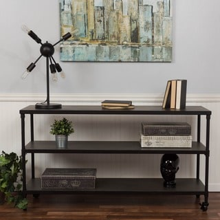 Somette Grey 3-shelf Media Console with Caster Wheels