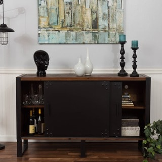 Somette Natural Reclaimed 2-door Media Console