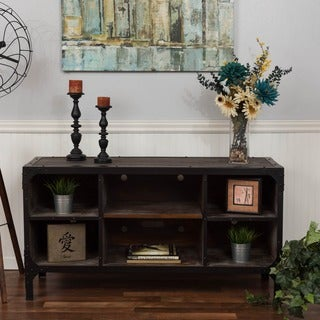 Bombay Reclaimed Grey 5-Shelf Media Console