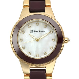Lucien Pezzoni Women's Sacra Black Mother of Pearl Watch