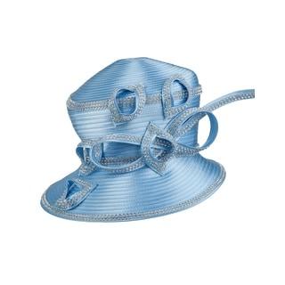 Giovanna Women's Unique Rhinestone Design Ribbon Hat