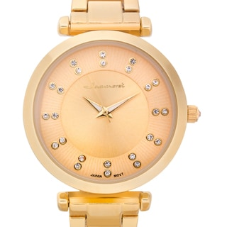 Jeanneret Women's Muriel Goldtone Austrian Crystal Watch