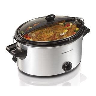 Hamilton Beach Silver Stay or Go 6 Quart Slow Cooker