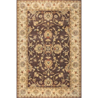 ABC Accent Hand-knotted Ziegler Brown Beige Wool Area Rug (10' x 14'3)