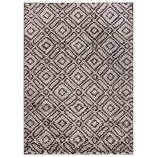 ABC Accent Moroccan Beni Ourain Grey Brown Wool Rug (4'7 x 6'6)
