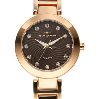 Tavan Women's Siren Brown Austrian Crystal Accented Dial Watch
