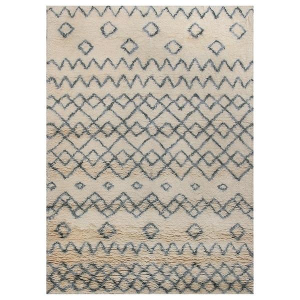 Shop ABC Accent Moroccan Beni Ourain Ivory Xandu Wool Rug