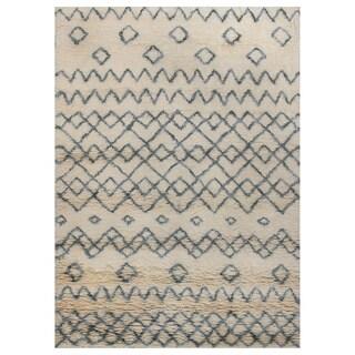 ABC Accent Moroccan Beni Ourain Ivory Xandu Wool Rug (4'7 x 6'6)