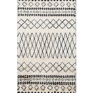 ABC Accents Beni Ourain Moroccan Ivory Wool Area Rug (4'6 x 6'6)