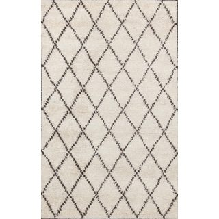 Abc Accents Moroccan Beni Ourain Ivory Wool Rug 8 X 10